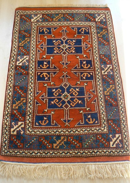 Turkish, Ayvacik, Vegerable Dye Rare Handmade Rug