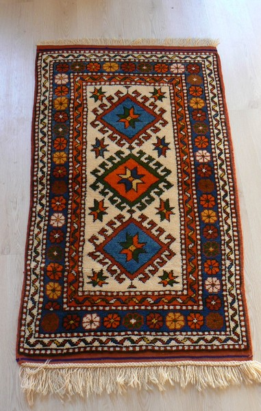 Turkish, Ayvacik, Vegetable Dye Handmade Rug