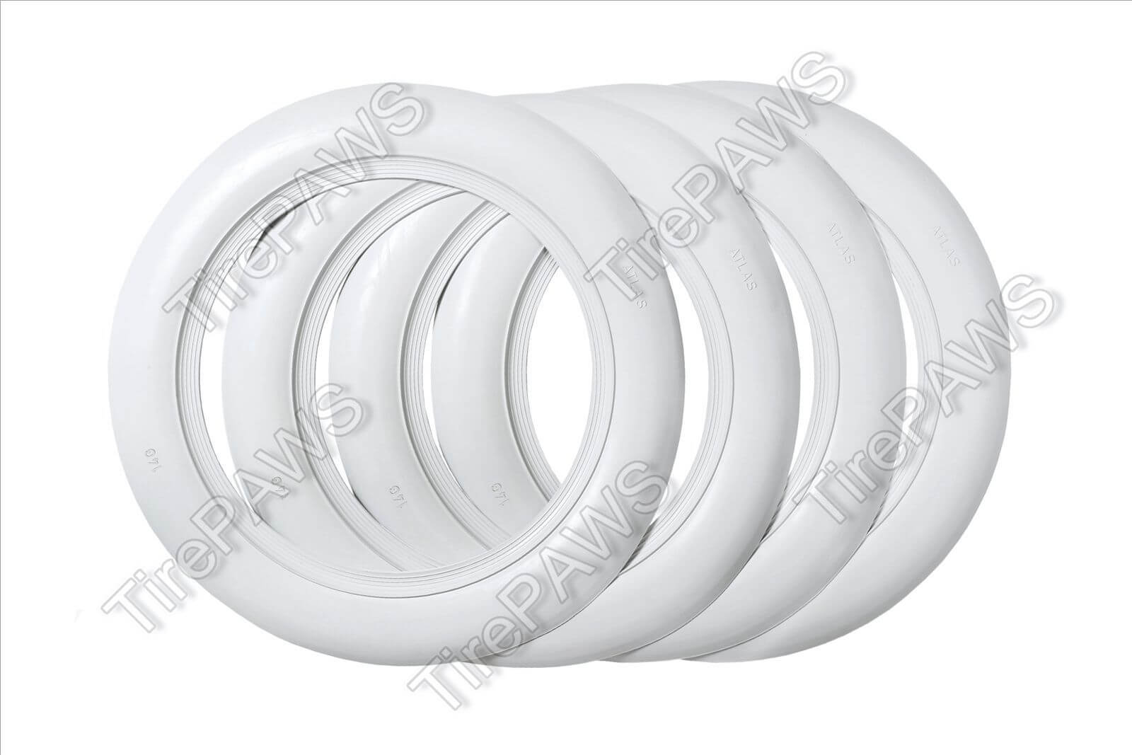 "universal Wheel 14/"" White Wall Portawall Tire trim set of 4 Flapper Topper"