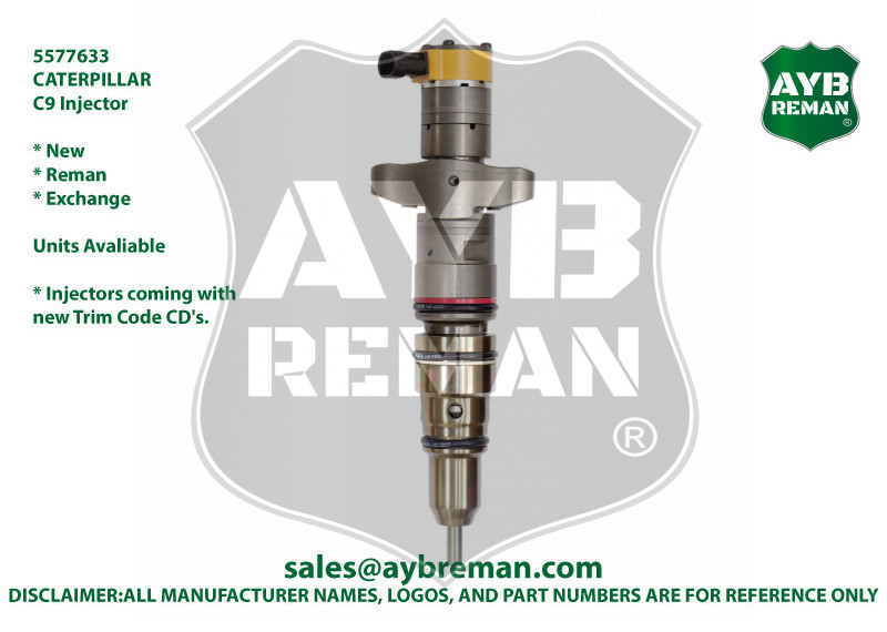 5577633 / 3879433 AYB Reman Injector for Caterpillar C9 Engine