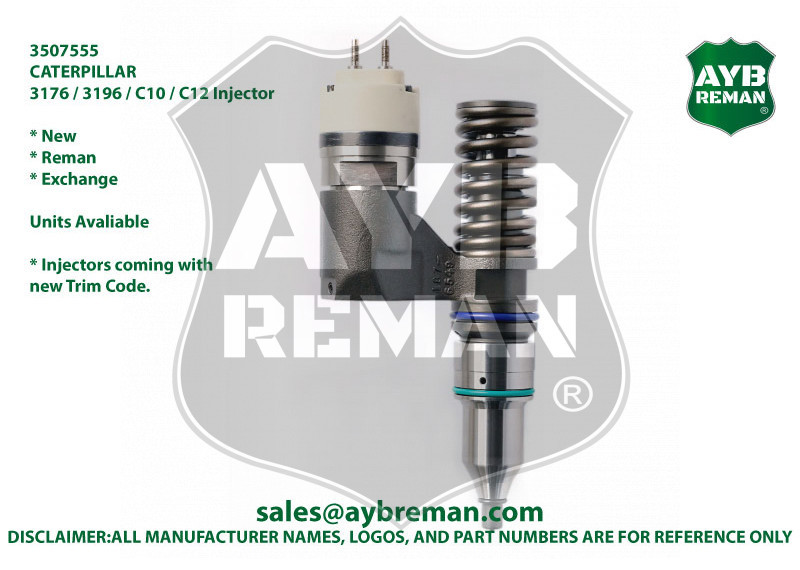 3507555 AYB Reman Injector for CAT 3176 3196 C10 C12 Engines