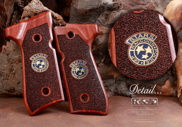 Beretta STARS CROWN Rosewood 92/96/98/M9 Full Size Grip