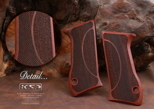 Jericho .45 ACP Rosewood Grips