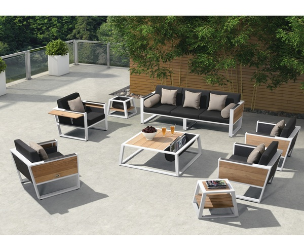 SMB-PLRS-Lounge Set Metal (1 pcs 3 seater sofa+2 pcs 1 seater+1 pcs coffee table)
