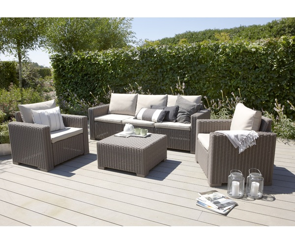 SMB-CLFRN-Lounge Set Rattan Looking Injection (1 pcs 3 Seater Sofa+2 pcs 1 seater+1 pcs Coffee Table)