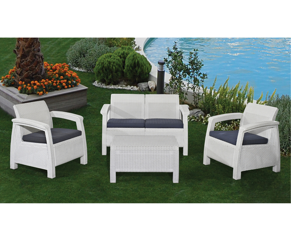 SMB-MRN-Lounge Set Rattan looking Injection (1 pcs 2 seater sofa+2 pcs 1 seater+1 pcs coffee table)
