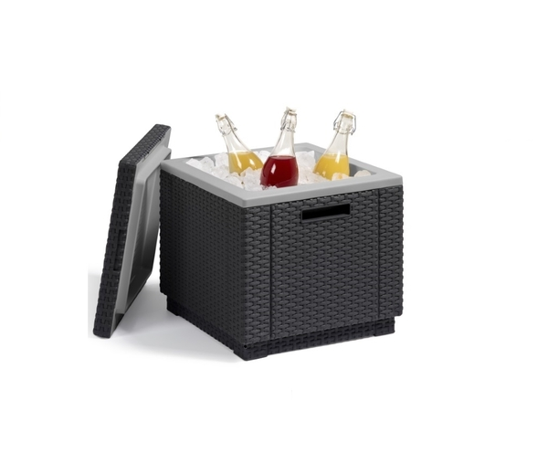 SMB-ICE-Side Table and Ice Bucket Rattan Looking Injection