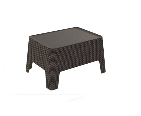 SMB-INOT-Side Table Rattan Looking Injection Plastic