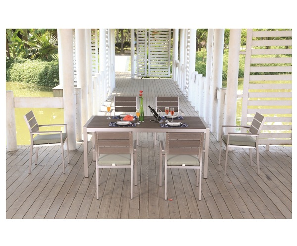 SMB-MRL-Table and Armchair Set(6 Chairs+1 Table)