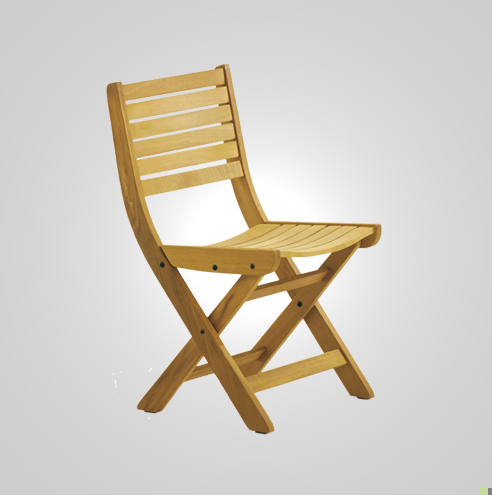Astounding Ryg 3140 Folding Chair Iroko Wood Horizontal Slats Hotel Machost Co Dining Chair Design Ideas Machostcouk