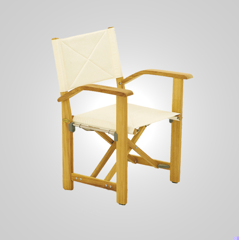 RYG-3144-Stage Manager Armchair Iroko Wood-Textile