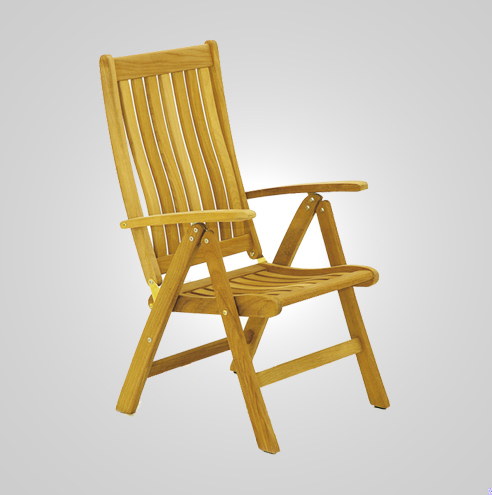 RYG-3160-Lounge Chair Recliner Iroko Wood
