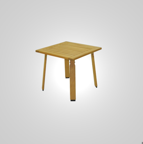 RYG-3404-Table Iroko Wood 80x80x72h