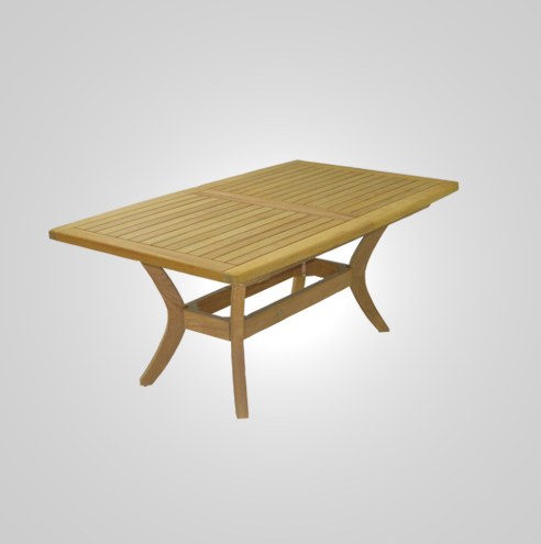 RYG-3462-Rectangular Extending Table Iroko Wood 92x160-206x74h