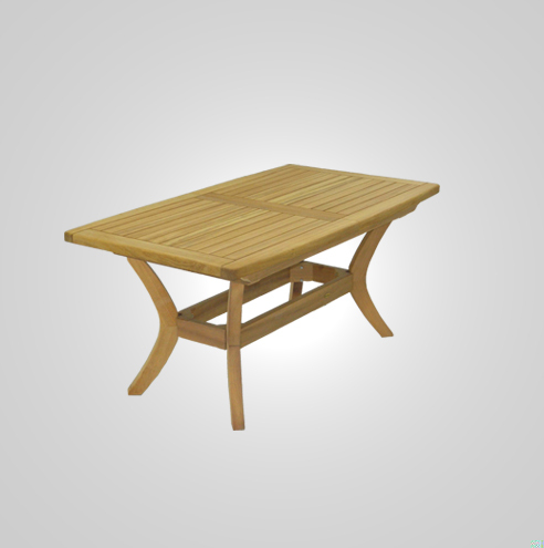 RYG-3466-Rectangular Extending Table Iroko Wood 104x180-240x74h