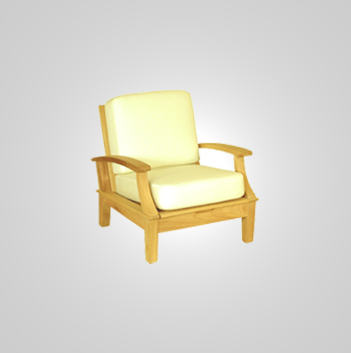 RYG-3221-Lounge Chair Iroko Wood Recl.3 level