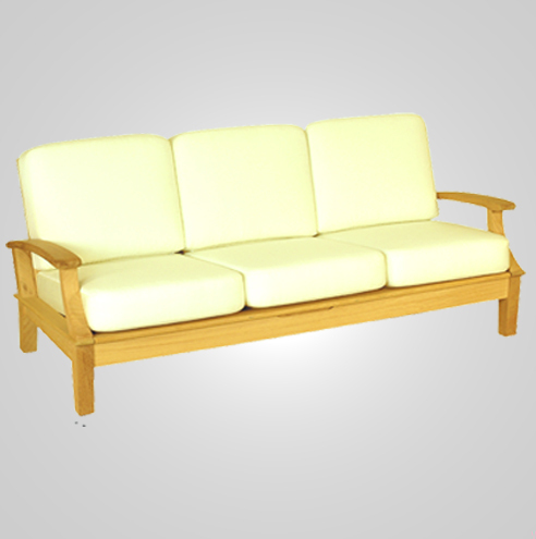 RYG-3223-Sofa 3 Seater Iroko Wood Recl.3 level