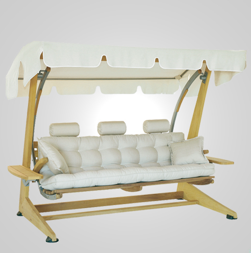 RYG-3610-Swing 3 Seater Iroko Wood 225x140x190h