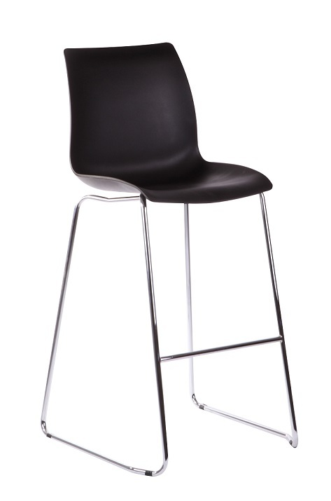 TLL-LSR-BR-PL-Bar Chair Seat Plastic Black Legs Metal