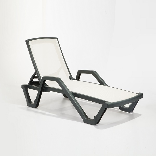 TLL-MAR-Sunlounger with Arm Plastic -Net