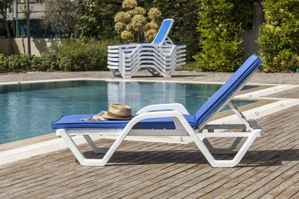 PPT-ZN-Sunlounger Stainless Steel-Mesh Textile