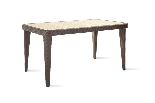 SMB-ARZN-Table 90x150 Rattan looking Injection