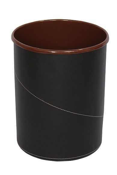 NEO-A-303-Patterned Leather Coated Litter Bin
