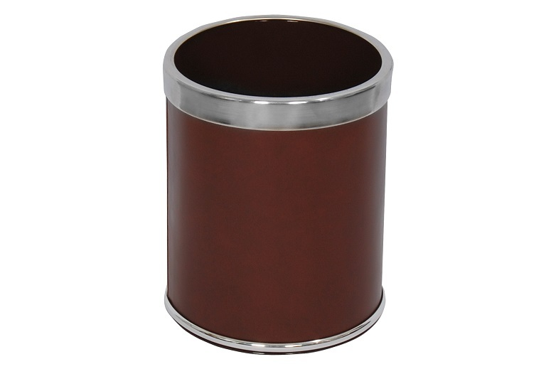 NEO-A-304-Double Ring Leather Coated Litter Bin
