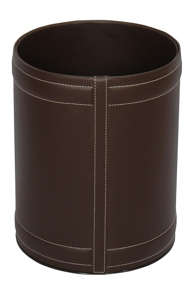 NEO-A-306-Relief Leather Coated Litter Basket