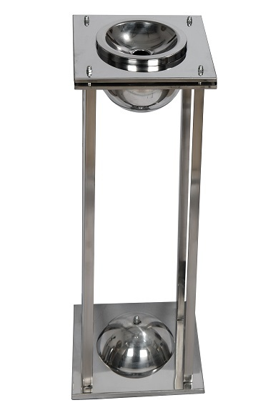 NEO-107M-Torch Cigarrette Bin-Ashtray Stainless Steel or Brass