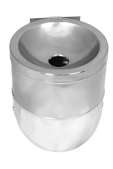 NEO-107YC-Round Cigarette Bin with Glass-Ashtray