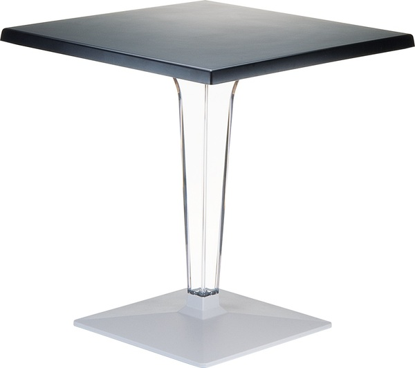 SST-560-Ice Square 70*70 Table Werzalit&Polycarbonate