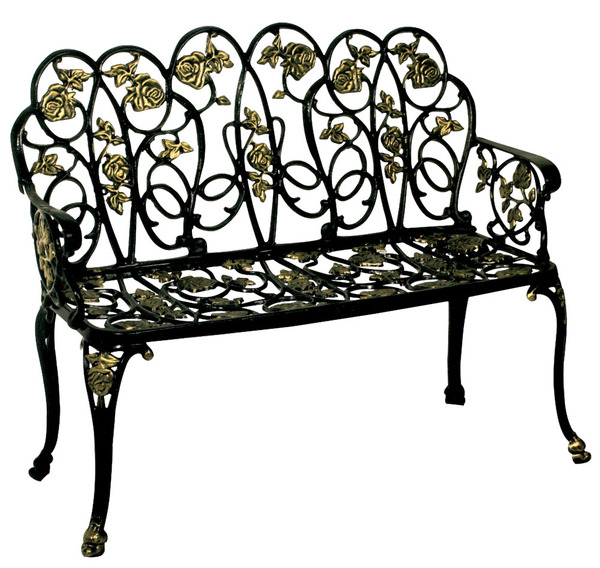 PRK-PG7150-Aluminum Garden Bench with arms