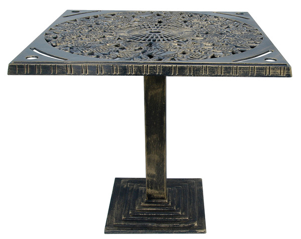 PRK-PG7505-Square Aluminum Garden Table 80x80