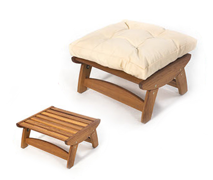 INT-CMFOTT100- Ottoman made from Iroko wood