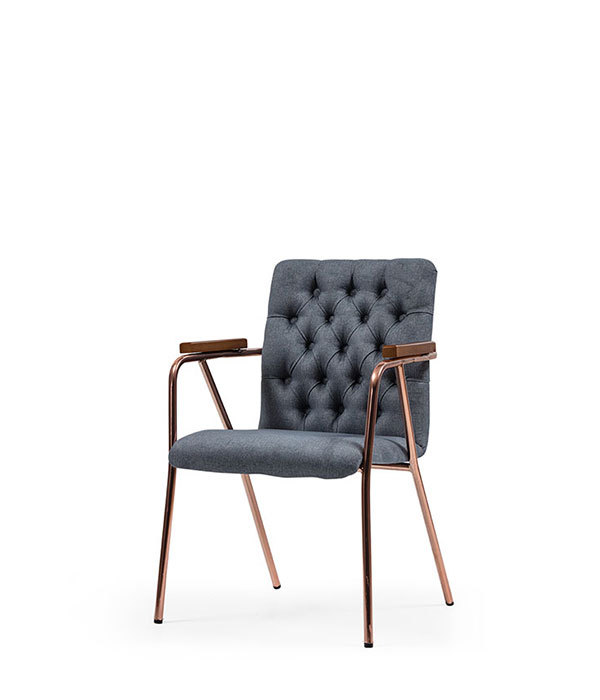 SNC-225-Armchair, Metal Frame Upholstered seat and back
