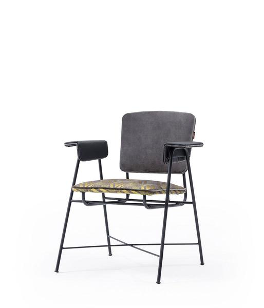 DCS-157-Metal Chair Upholstered