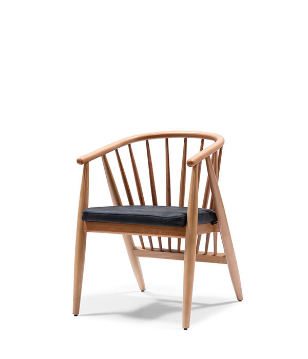 SRP-BON-Chair Wooden Padded Seat