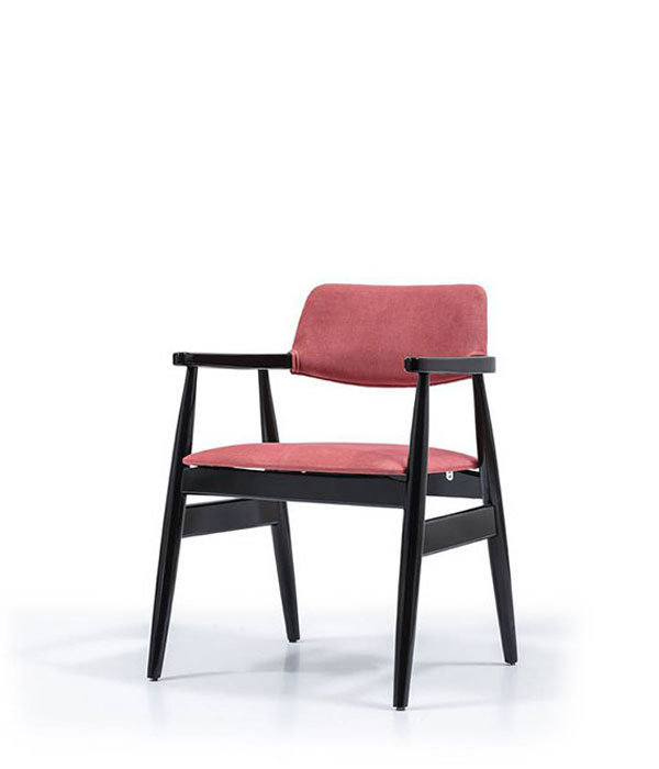 SNC-329-Armchair-Wooden frame padded seat