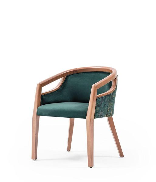 SNC-342-Armchair, Wooden frame, seat and back upholstered