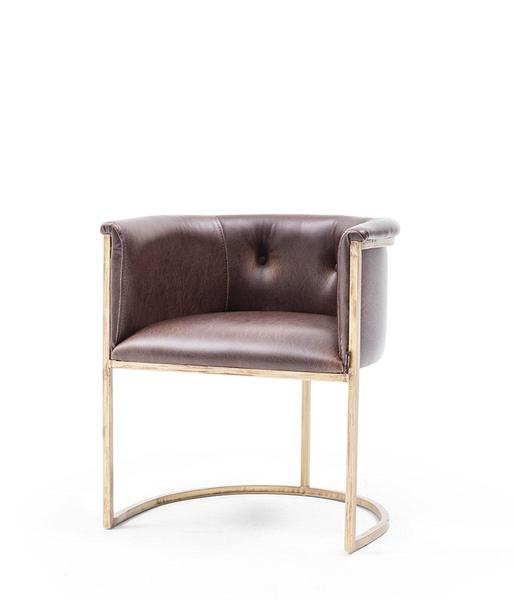 MTL-CFS-S03-004-Decorative Armchair-Metal Frame