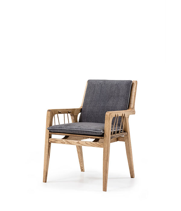 SNC-439-Armchair,  Wooden frame seat and back cushion