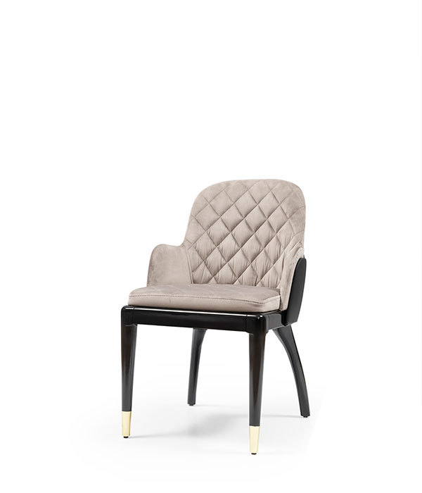 SNC-442-Armchair,Dining Chair, Wooden frame seat and back upholstered