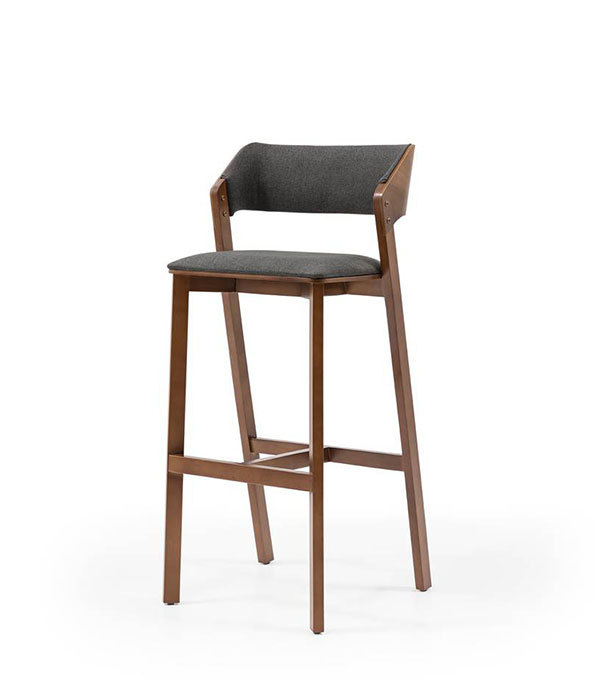 SRP-PR2-15 Bar Chair Retro Wooden-Leather Padded