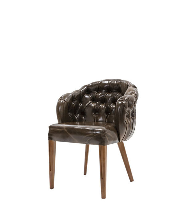 SNC-466-Armchair,  upholstered, wooden legs