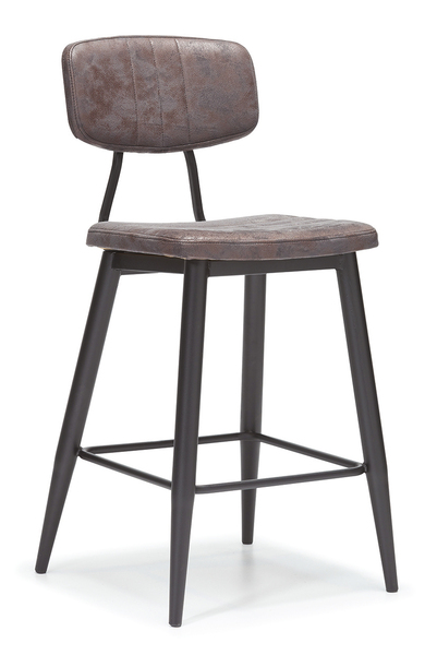 SRP-PR2-18 Bar Chair Retro Wooden-Leather Padded