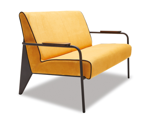 SFF-LV250-Sofa 2,5 Seater Upholstered Metal Leg