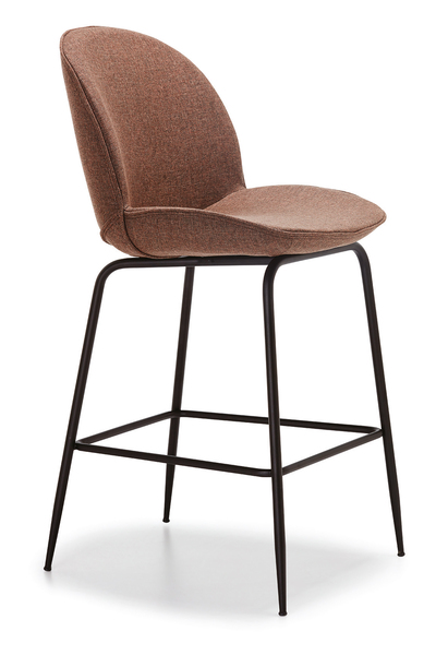 DCS-S-171-B-Bar Chair, Metal Frame, Upholstered