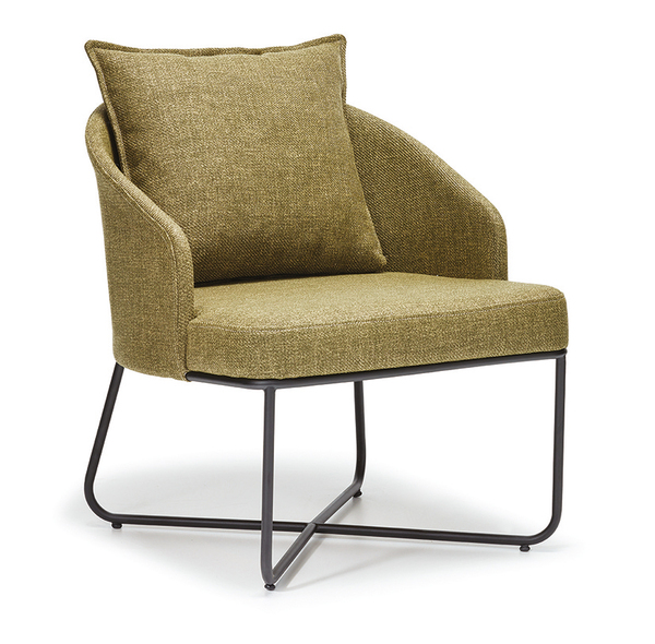 SNC-354-Armchair, Wooden frame, seat and back upholstered