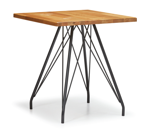 DCS-244-1-Table Metal Leg Melamine Top 70x70cm or 80x80cm